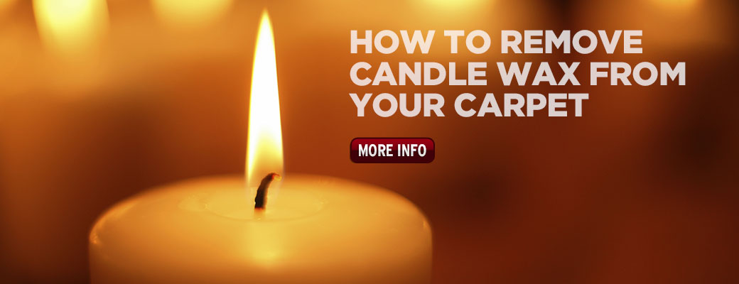 How to remove candle wax from the carpet