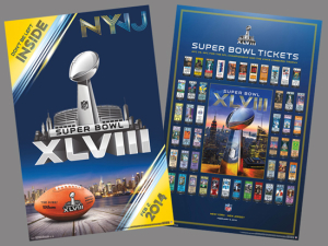 this is a picture of super bowl tickets for 2014 game