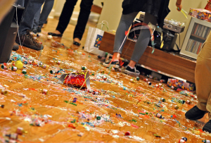 this is a picture of a post party mess after the super bowl